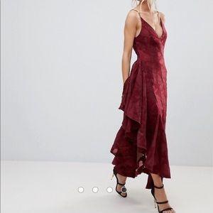 ASOS C Meo Collective asymmetrical ruffle dress